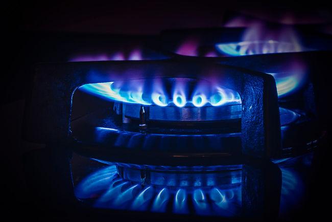 Plynový hořák.