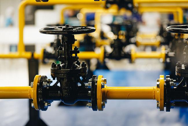 Kohoutek regulace zemního plynu.
