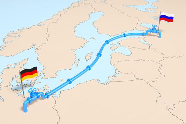 Mapka plynovodu Nord Stream 2
