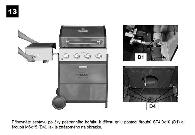 Použití plynového grilu