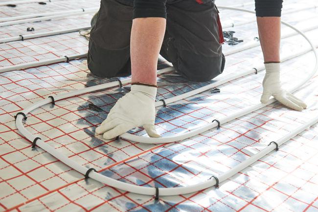 Podlahové vytápění: Instalace